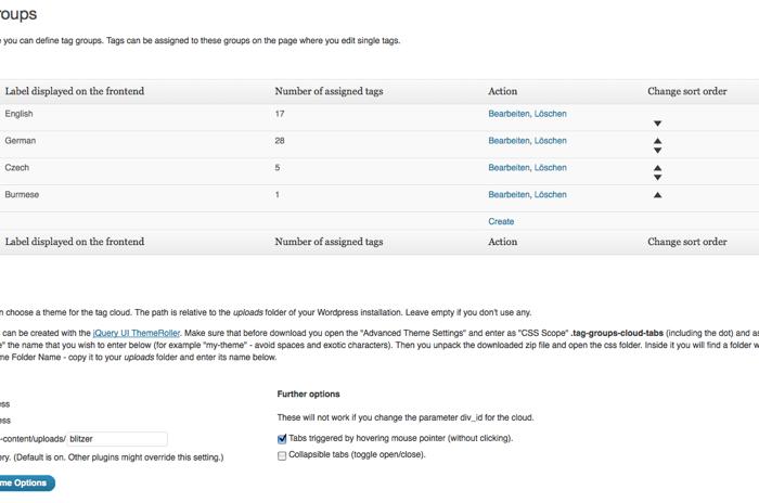 "WordPress Plugin ""Tag Groups"""